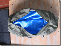 homemade rogue sandbag for crossfit filler bags