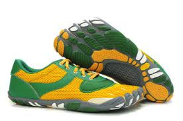 green and yellow vibram five fingers