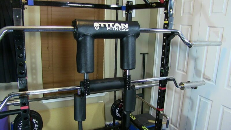 titan safety squat bar review